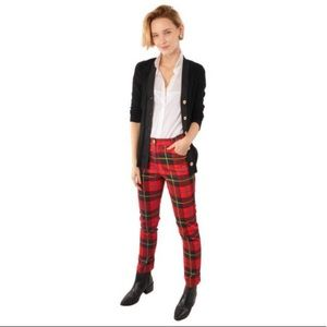 Gretchen Scott Gripeless Jean red plaid